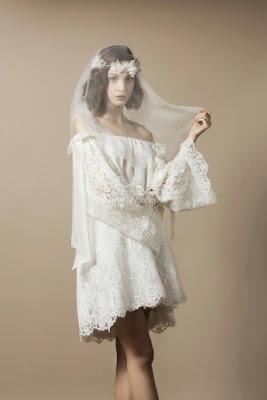 belle robe courte delphine manivet pour l'été robe mariage bohème romantique