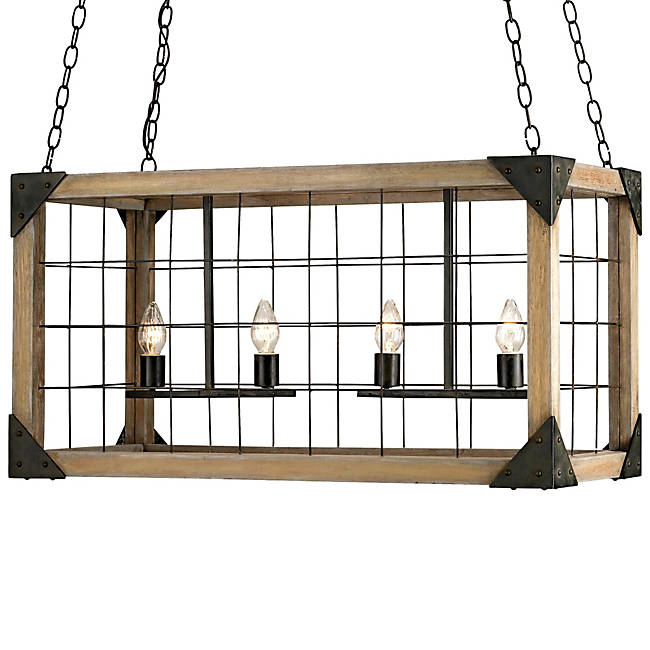 Currey & Company Eufaula Rectangular Chandelier
