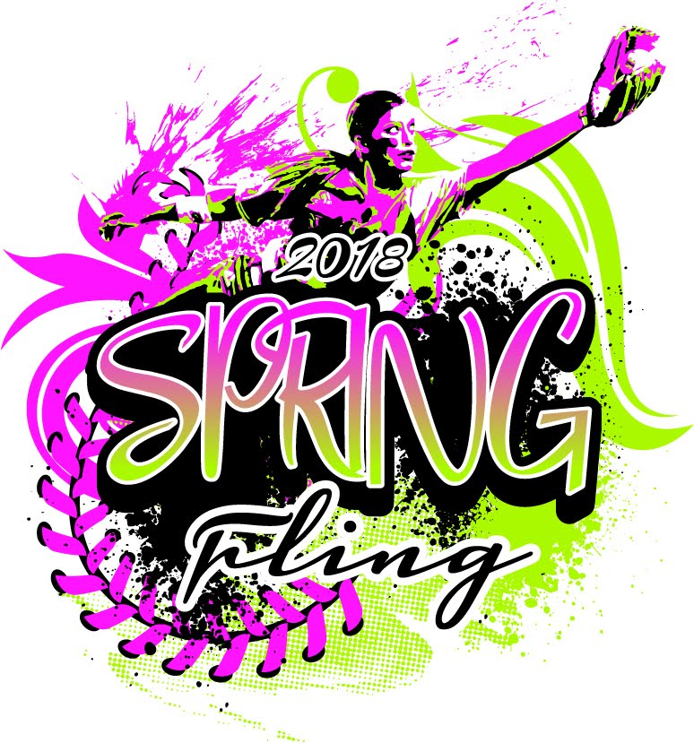 FREE SOFTBALL LOGO DOWNLOAD SPRING FLING 2018 WITH ADJUSTABLE FONT