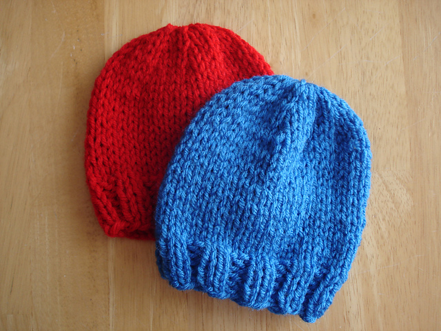 Free Knitting Patterns For Toddler Hats On Straight Needles : Fiber Flux: Free Knitting Pattern...Lightning Fast NICU and Preemie Hats!