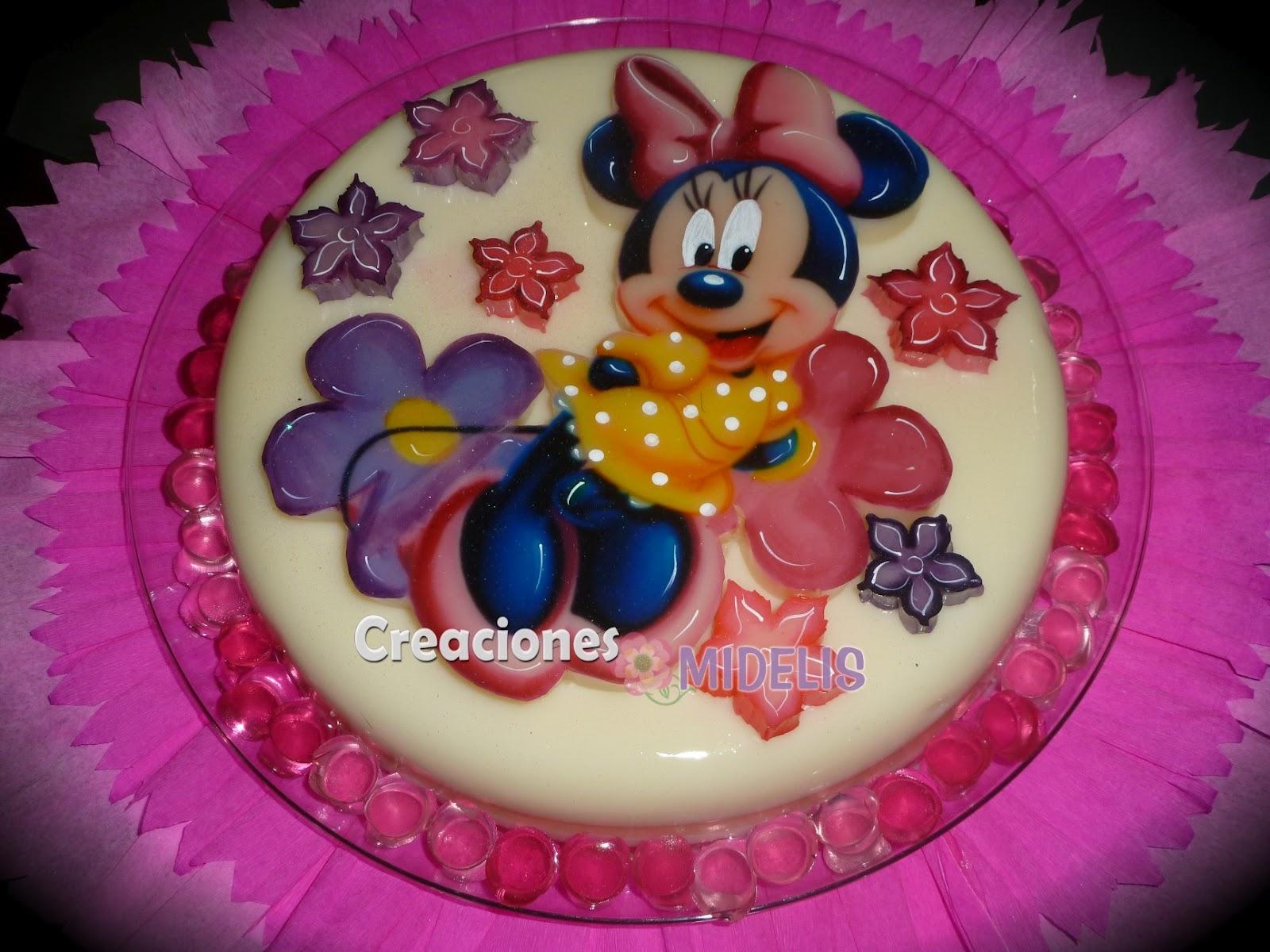 Gelatina de colores Minnie Mouse - Imagui