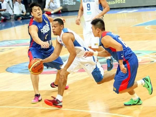 FIBA Asia Chinese Taipei defending against Philippines