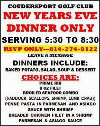 12-31 New Years Eve Dinner Only
