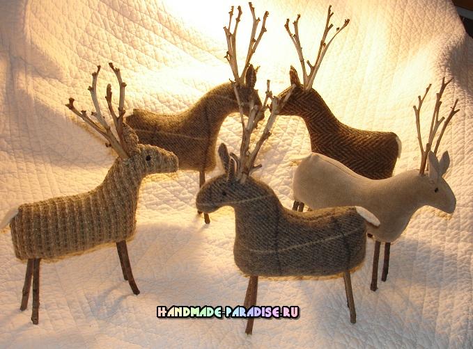 Рождественские олени. Выкройки