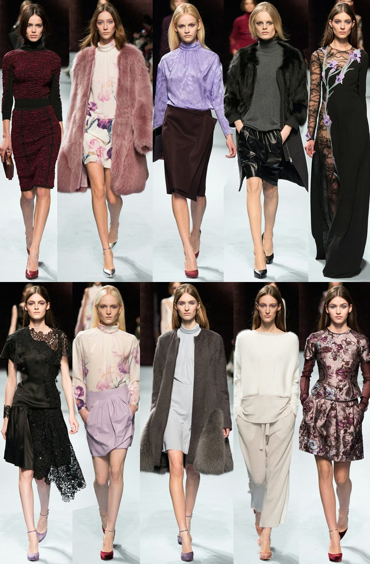 Nina Ricci fall winter 2014 runway collection, PFW, Paris fashion week, FW14, AW14