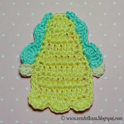 crochet sweet girl applique pattern