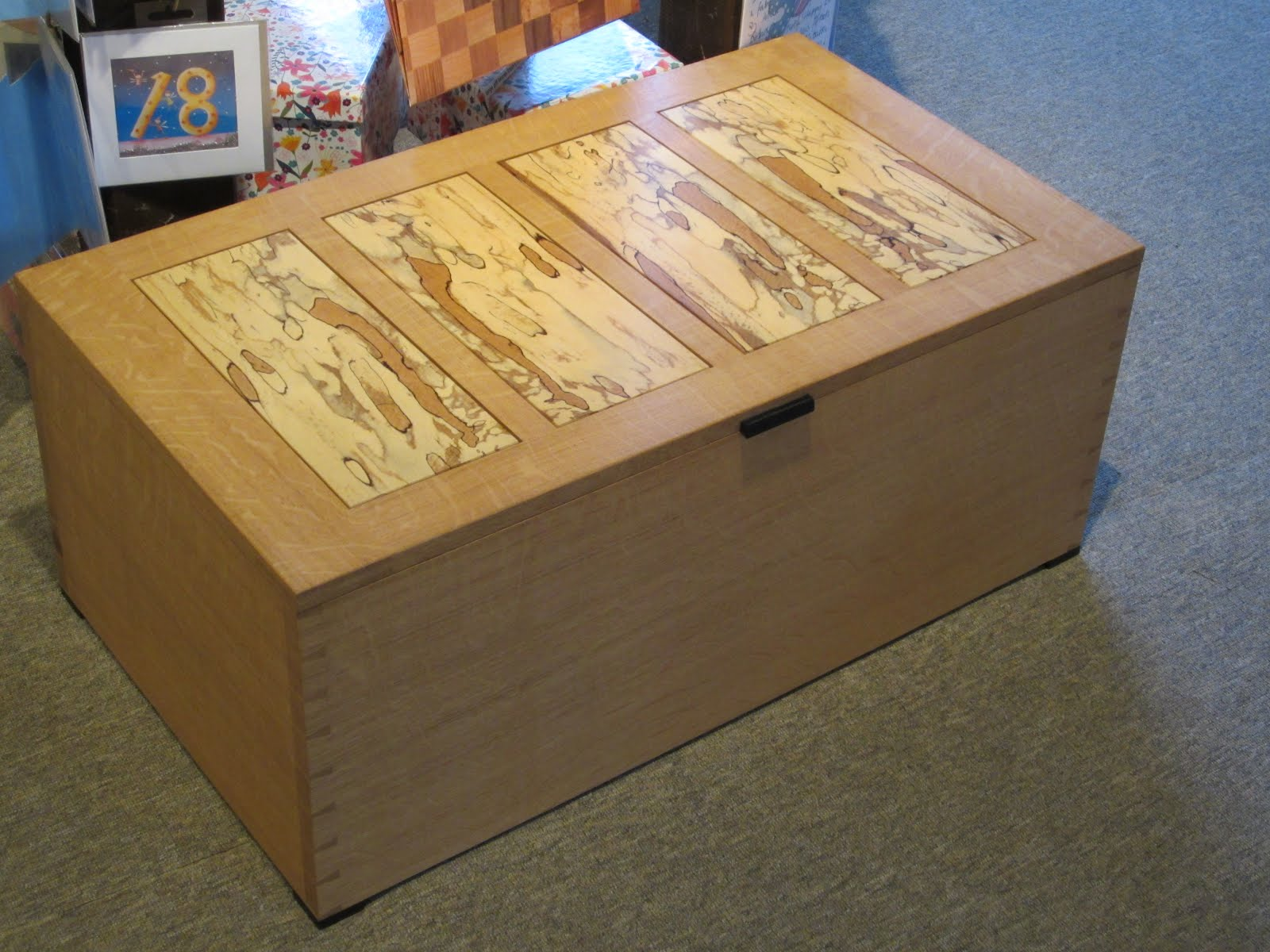 Dovetailed Box Of Oak And Spalted Beech By David Barron