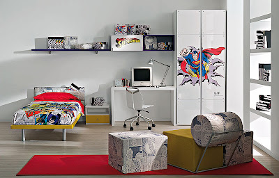 dormitorio tema superhéroes
