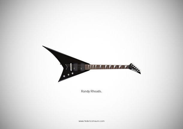 """Famous Guitars"" by  Federico Mauro"
