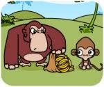 Khỉ con bày trò trộm chuối, game vui