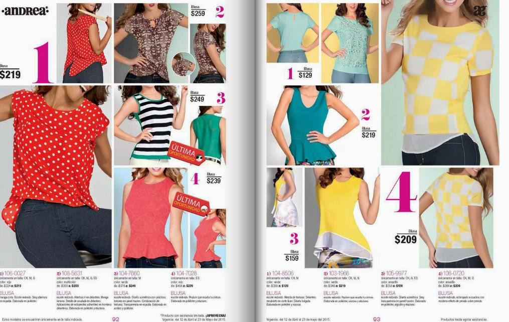 Catalogo de ofertas Andrea outlet mayo 2015