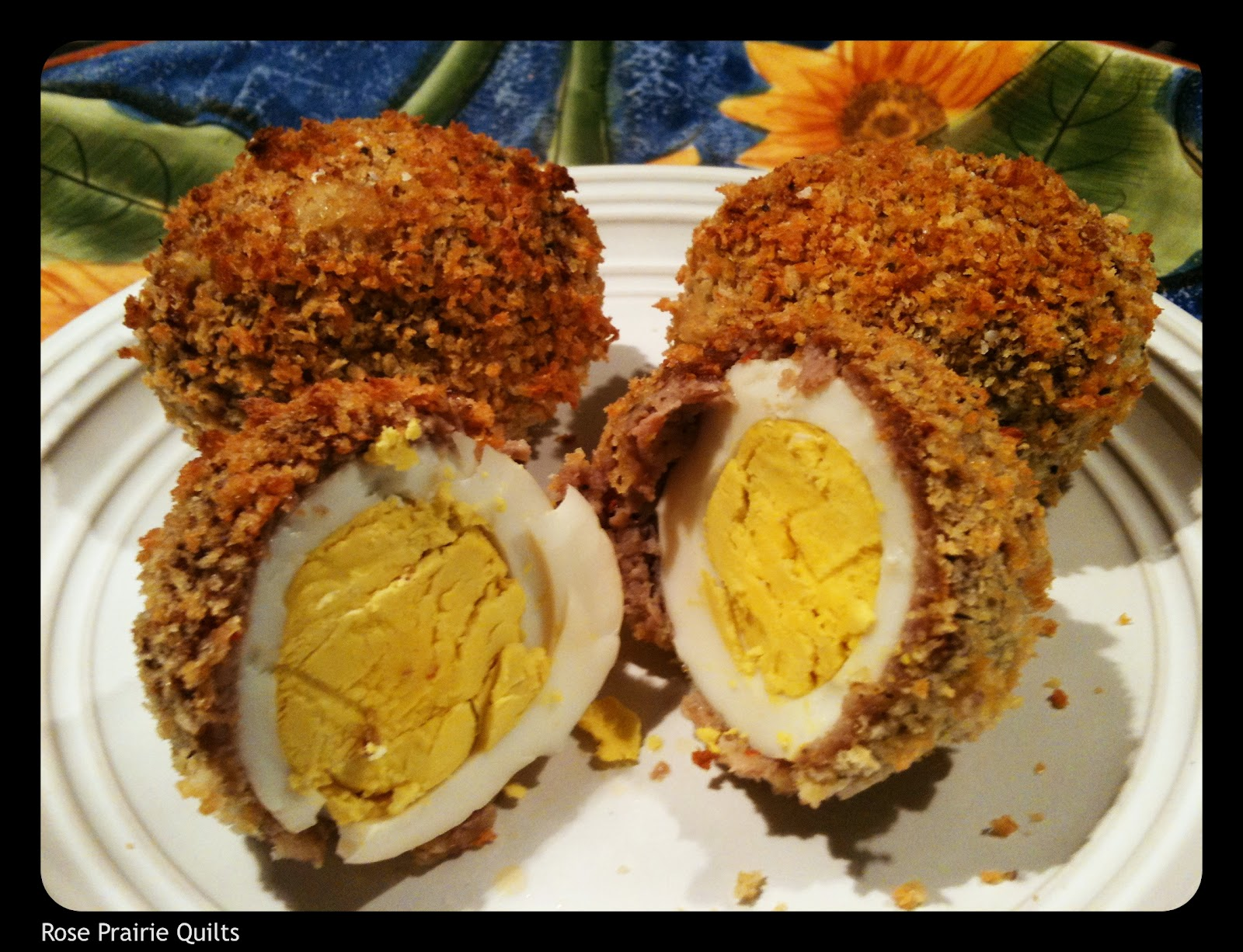 Breakfast Sausage And Cornflake Scotch Eggs Recipe — Dishmaps