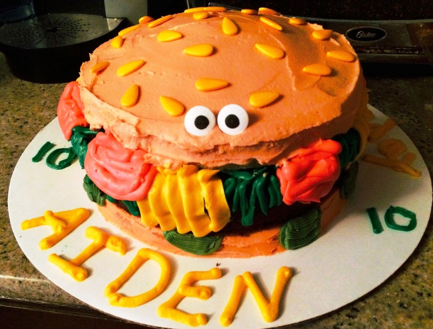 Writing Straight From The Heart Hamburger Cake