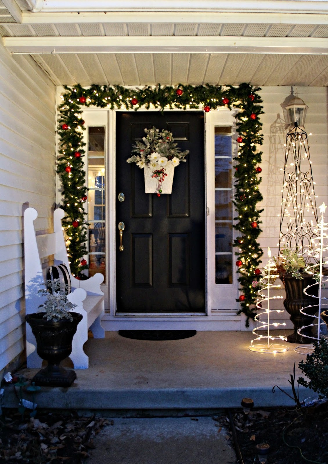 Front Door Christmas Lights - Thanks for visiting it is always my joy when you stop by