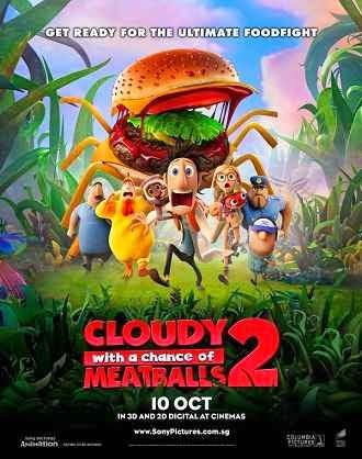 فيلم Cloudy with a Chance of Meatballs 2 2013 مترجم اون لاين