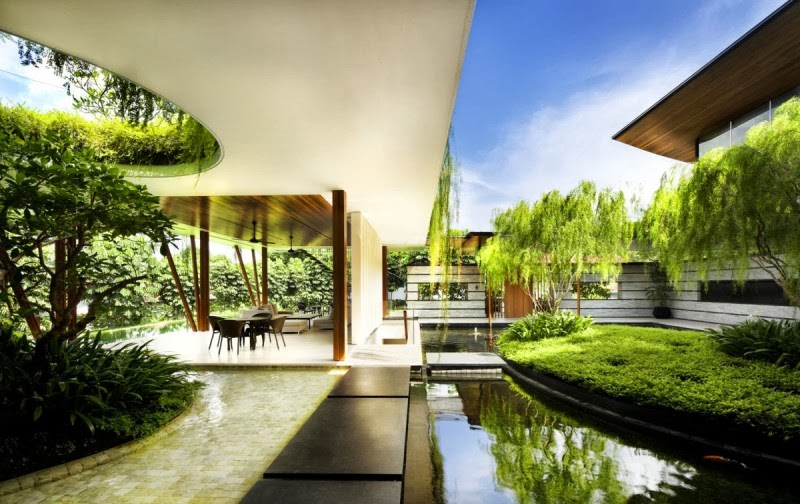 The willow house in singapore with garden roof modern for The willow house