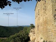 Vistes dels Cingles de Gallifa des del Castell de Castellcir