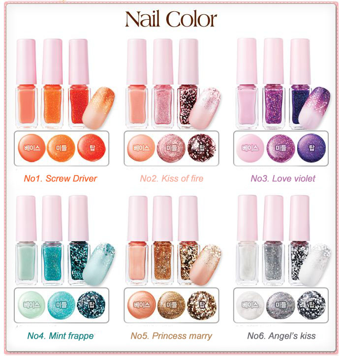 Grace\'s Musings: Etude House Gradation Cocktail Nails: A Quick Review