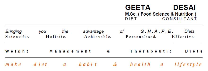 Geeta Desai : Diet Consultant