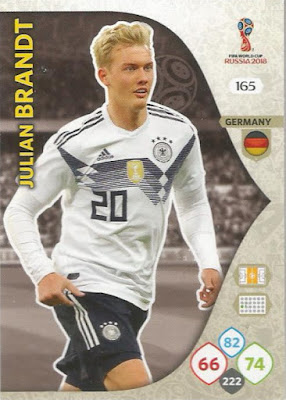 Sticker 444 Panini WM 2018 World Cup Russia Deutschland Julian Brandt