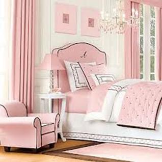 dormitorio niña muebles rosa
