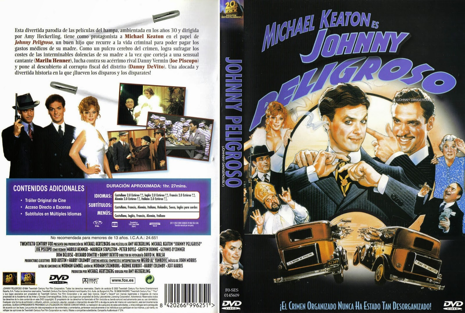 Cartula: Johnny peligroso (1984) (Johnny Dangerously)