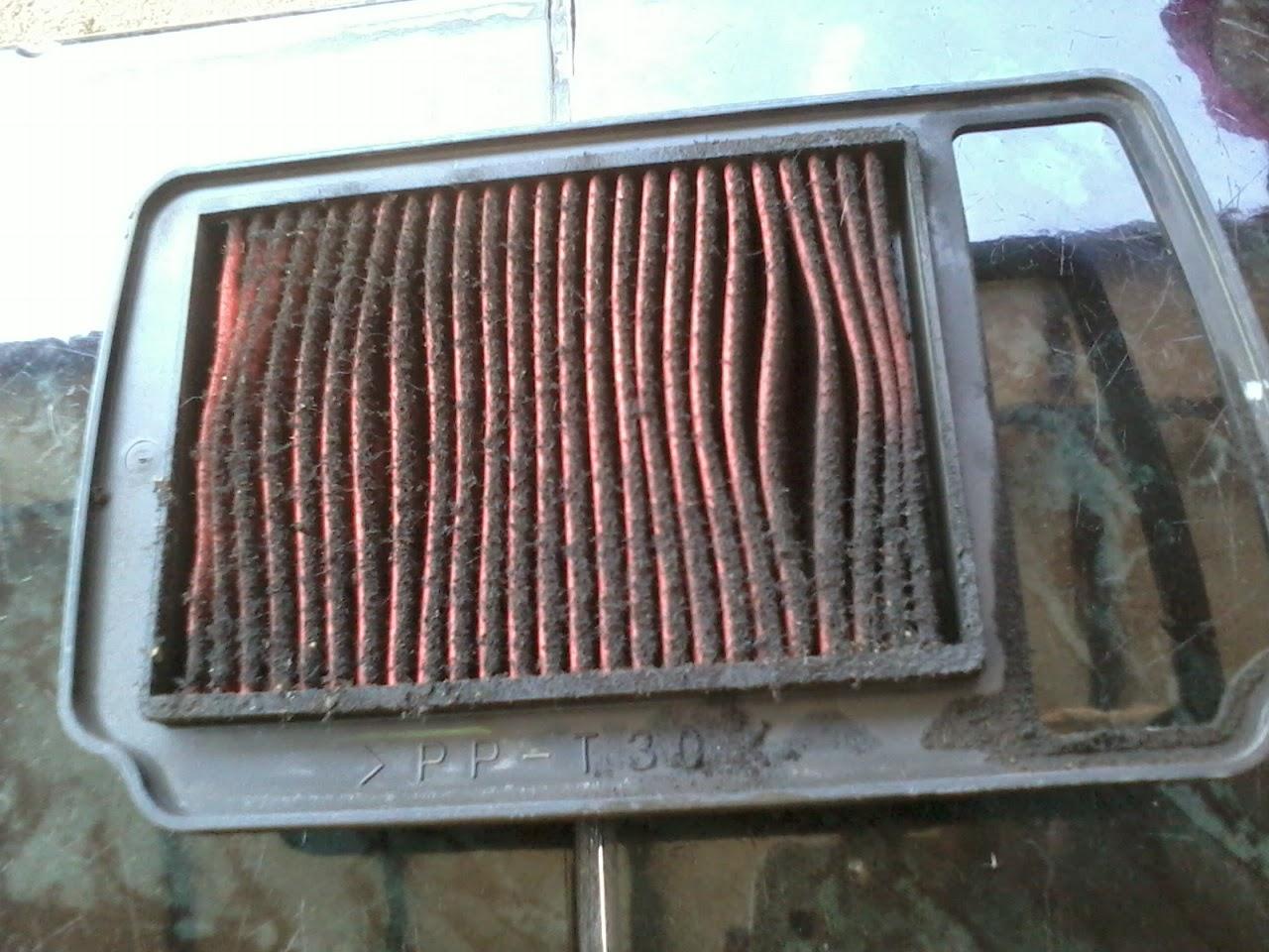 Hasil gambar untuk filter udara mobil kotor