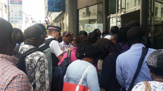 Drama At Nigerian High Commission In London Today Photos