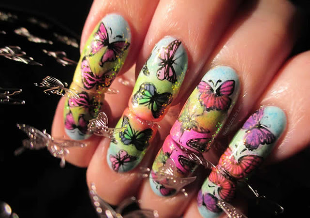 Nail Art  Designs For Girls 2015 In Pakistan