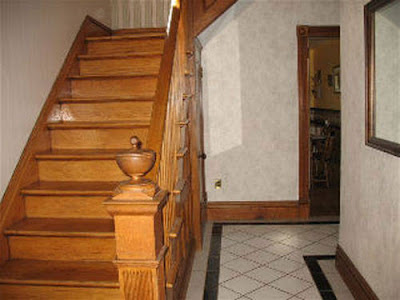 Real Ghost Photo: Unexplained Light on the Staircase