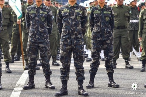 cadet officers in DLSU