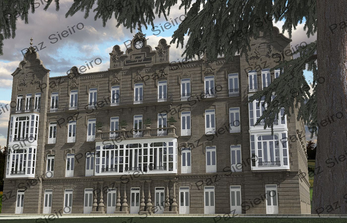 Works 3d gran balneario das burgas 1925 as burgas ourense arquitecto pedro garc a faria - Arquitectos ourense ...