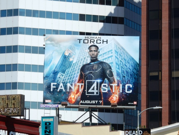 Fantastic 4 Human Torch billboard