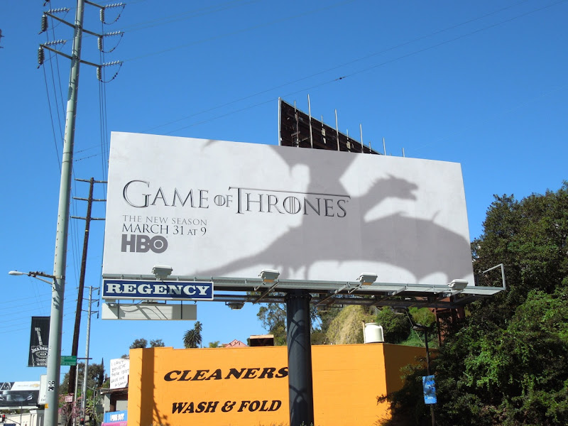 Game of Thrones season 3 billboard