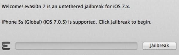Jailbreak iOS 7.0.5 Firmware via Evasi0n7