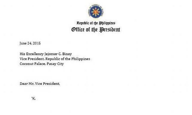 PNoys epic reply to Binays 1liner resignation letter Social – Resignation Letter Reply