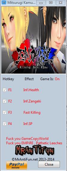 Mitsurugi Kamui Hikae V1.1.0.3 Trainer +4 MrAntiFun
