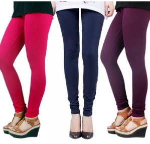 Cheap Low cost  women  3 Leggings Combo-D Pack