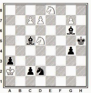 Estudio artístico de ajedrez compuesto por V. A. Korolkov (1º-2º Premio, 64, 1937)
