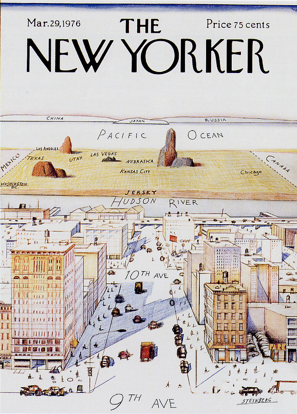 GENKAKUAGAIN Adam Fisher The Comforting Nature Of Maps - Famous new yorkers map of us