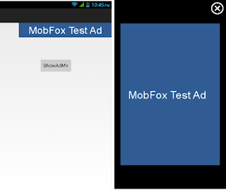 MobFox Android Test Ad