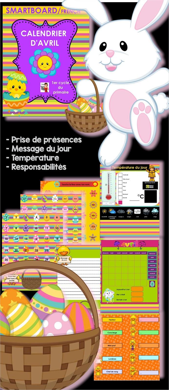 https://www.teacherspayteachers.com/Product/FRENCHSMARTBOARDCalendrier-du-mois-davril-oeufs-fleurs-1170149