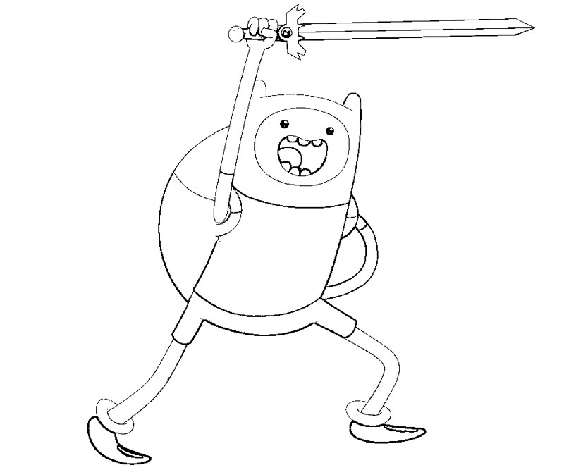 free finn of adventure time coloring pages