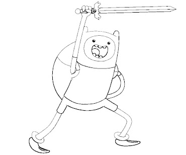 #4 Finn Coloring Page