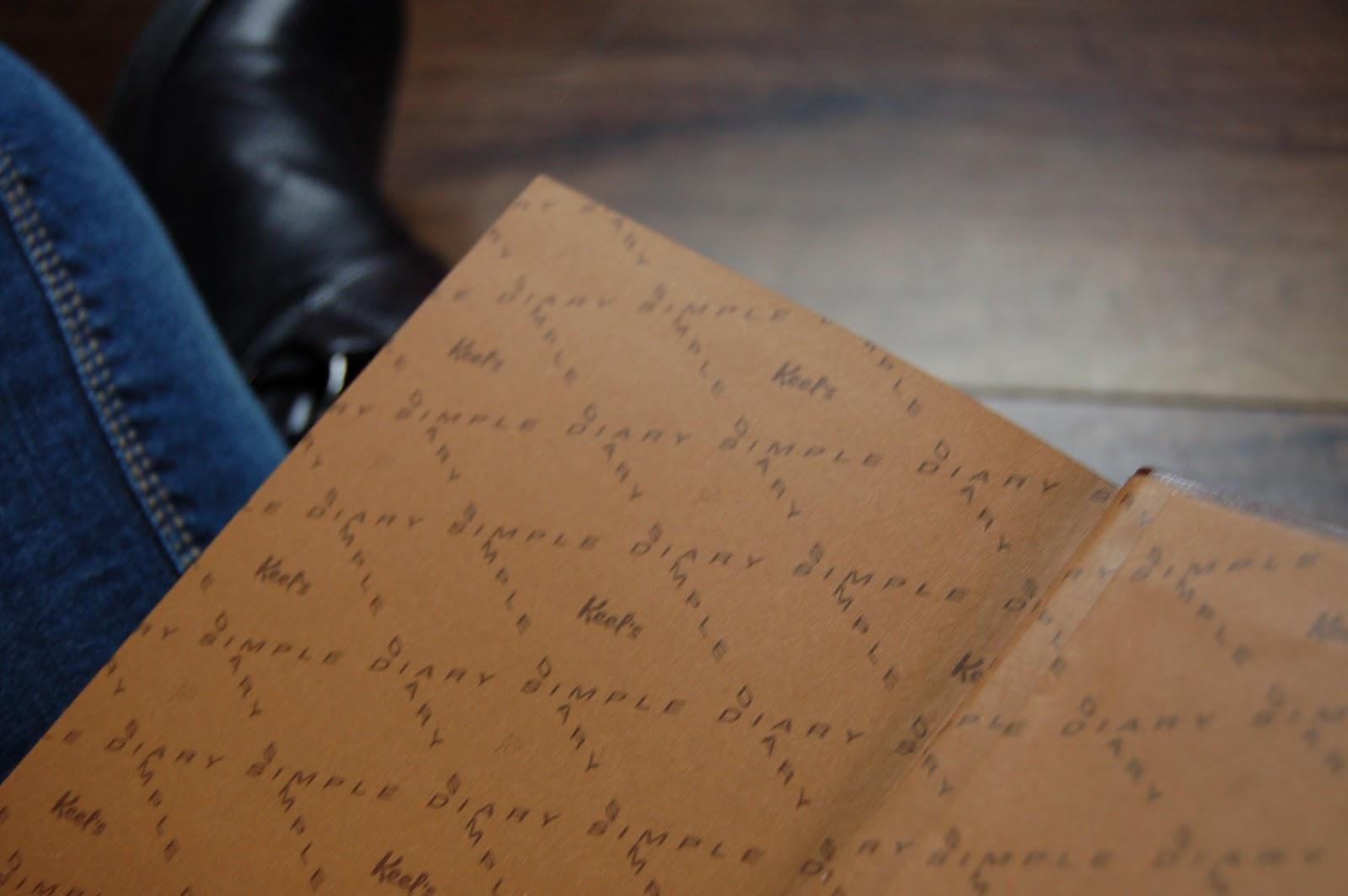 journal-intime-simple-diary-keel's-édition-française-couverture-marron-cuir