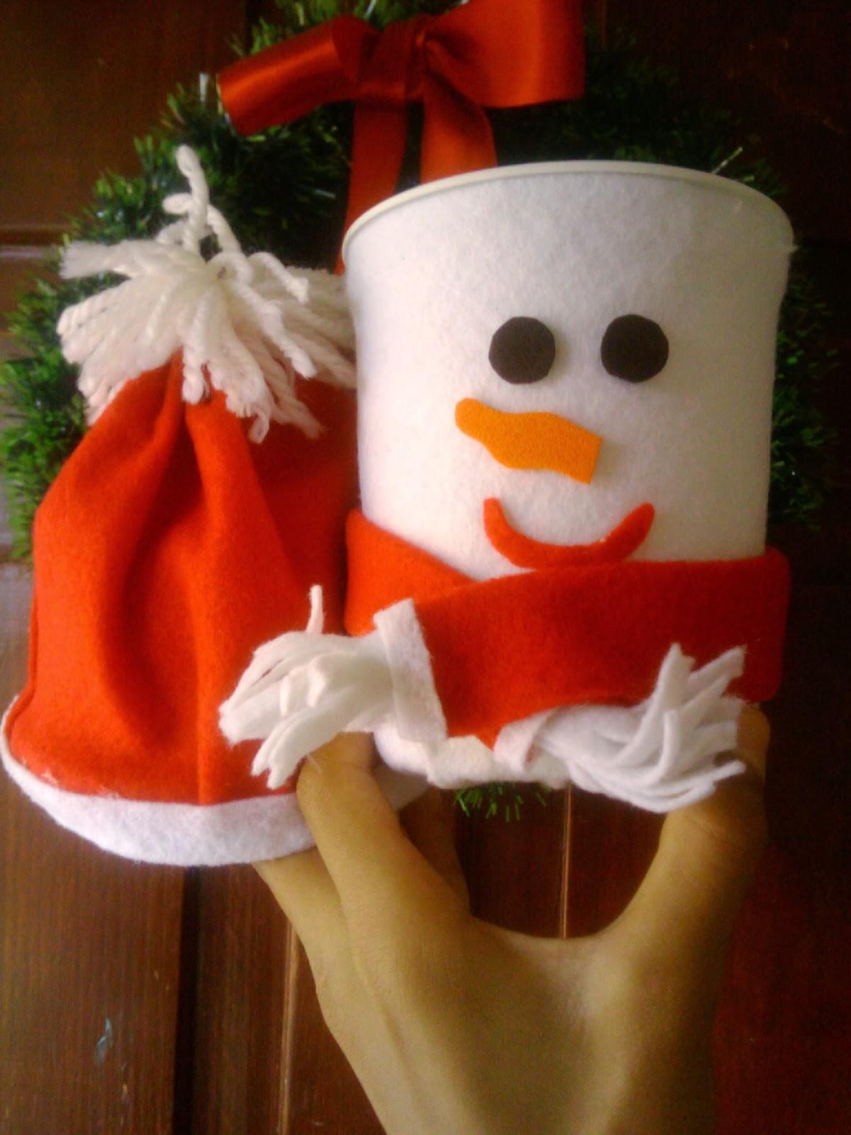 D 39 yaroly creaciones dulceros mu eco de nieve para las for Figuras de nieve navidenas