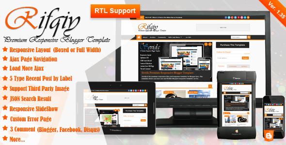 01 Rifqiypreview Apriezt   Responsive Magazine/News Blogger Theme (Blogger)