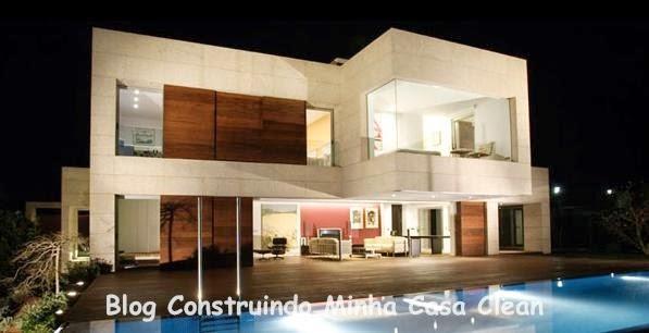 Construindo minha casa clean fachadas de casas modernas e for Fachadas de casas bonitas y modernas