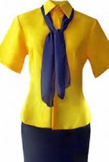 Uniforme Amarelo Com Lenço