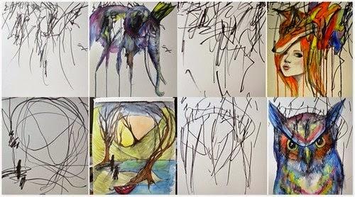 Menarik Ibu Kanak kanak Ini Ubah Contengan Anaknya Menjadi Lukisan Yang Cantik